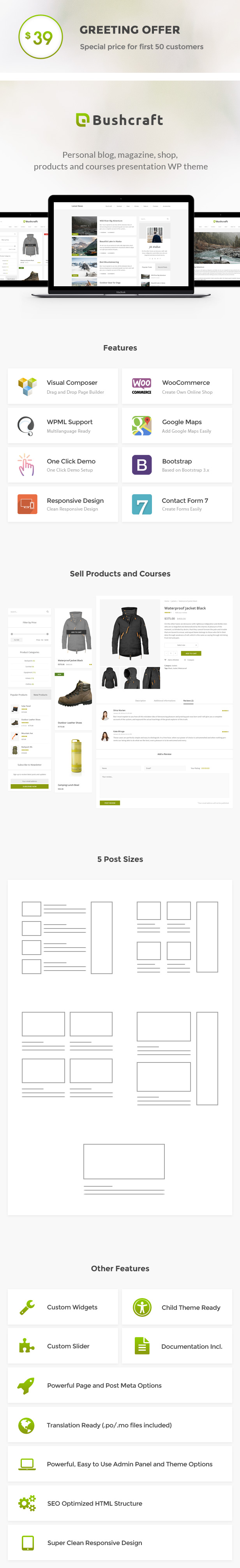 Bushcraft - Personal Blog WordPress Theme