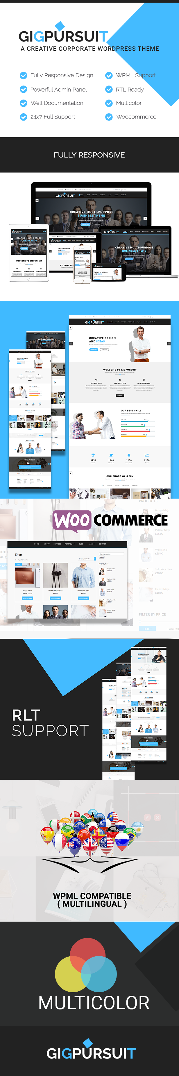 GigPursuit - Business, Corporate, Creative WordPress Theme