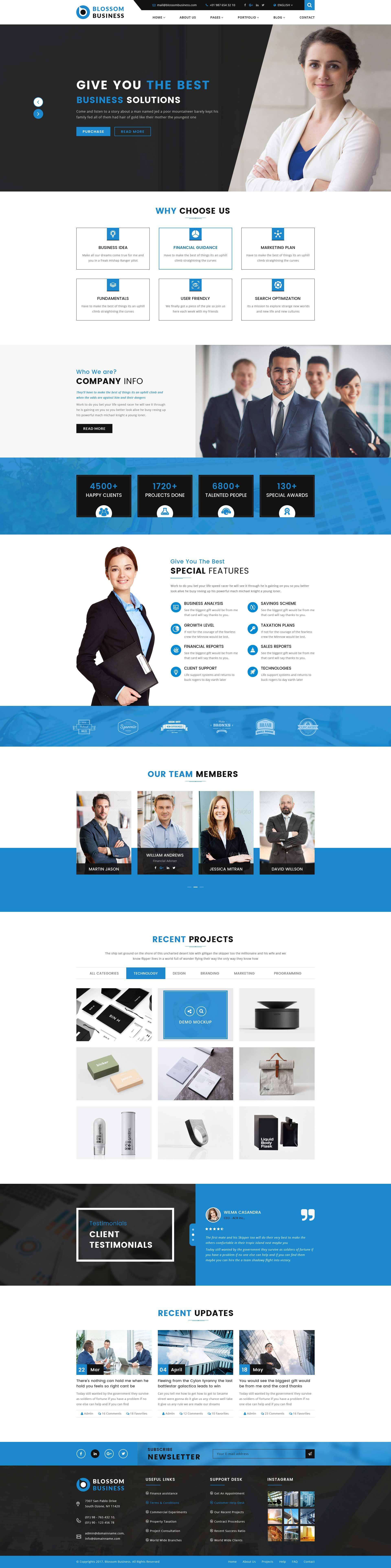 Blossom - Professional Business HTML Template