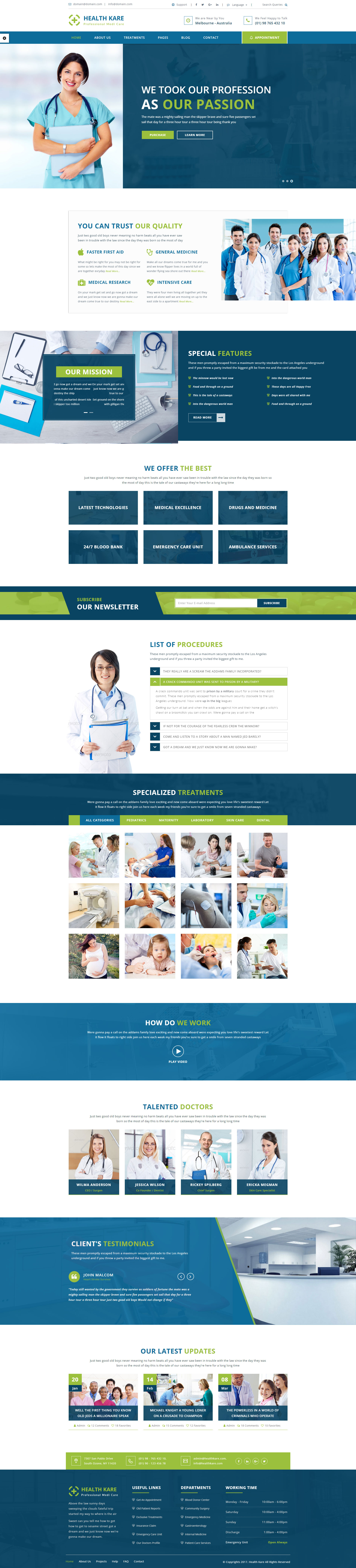 HEALTH KARE - Professional Medi Care WP Theme