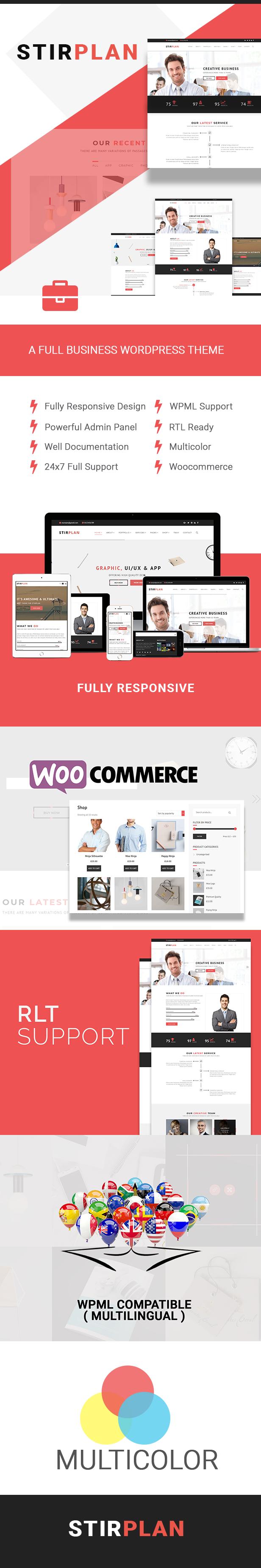 StirPlan - Business, Corporate, Agencies WordPress Theme