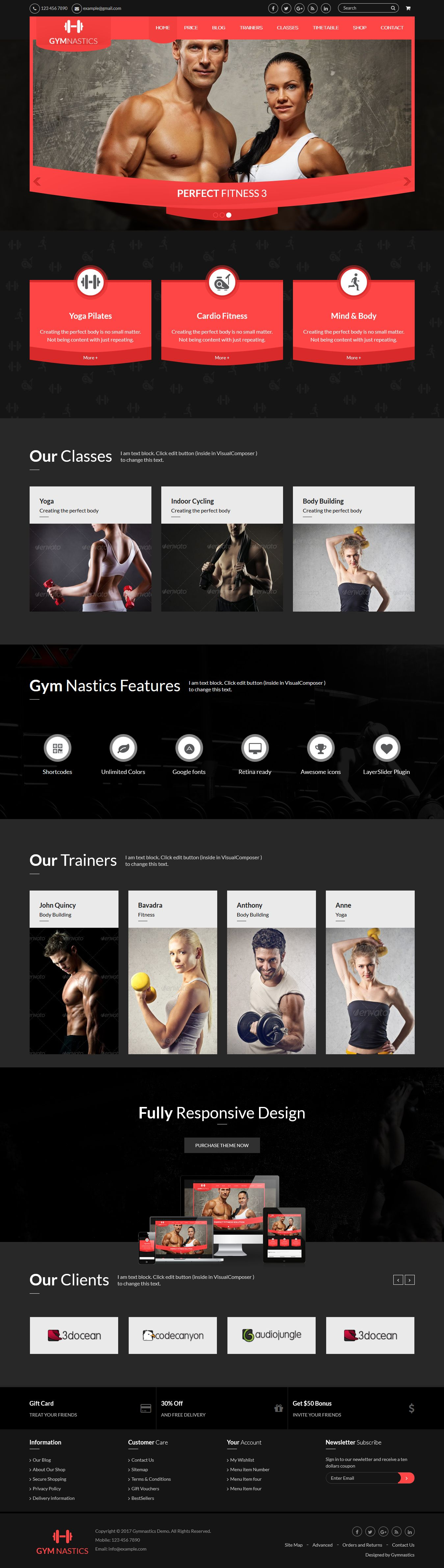 gym_preview Gymnastics WordPress Theme theme WordPress